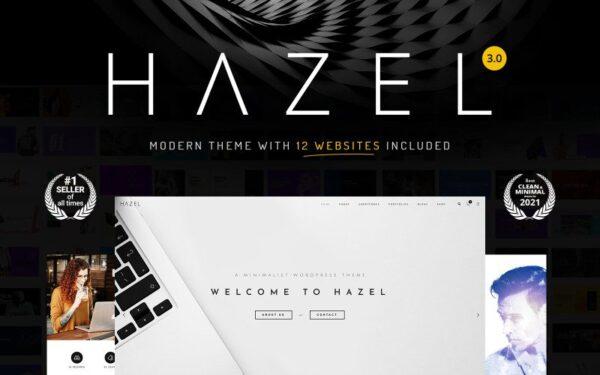 Hazel – Clean Minimalist Multi-Purpose WordPress Theme
